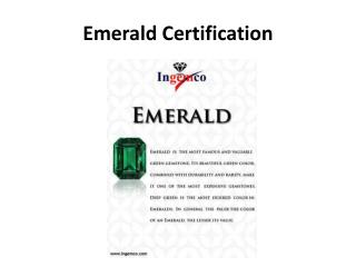 Emerald Certification