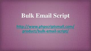 Bulk Mail Script, Bulk Email Software