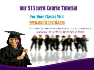 NUR 513 Nerd Tutorials/nur513nerddotcom