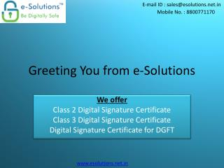Digital Signature for Trademark Registration