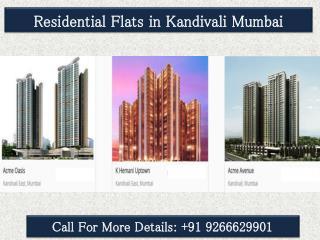 Residential Flats in Kandivali Mumbai@9266629901