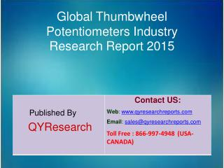 Global Thumbwheel Potentiometers Market 2015 Industry Study, Trends, Development, Growth, Overview, Insights and Outlook