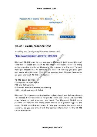 Microsoft 70-410 exam practice test