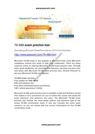 Microsoft 70-488 exam practice test