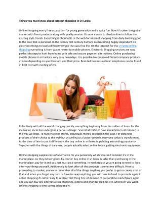 sri lanka online shopping