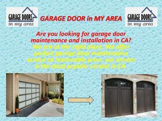 Garage Door Maintenance in Garden Grove