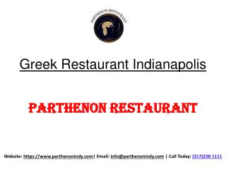 Greek Restaurant Indianapolis