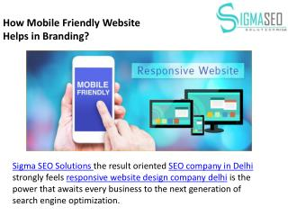 How Mobile Friendly Website Helps in Branding