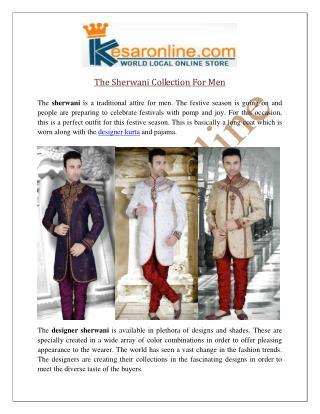 Mens Sherwani Online UK | Designer Sherwani Online Shopping