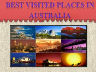 Best visited places in Australia