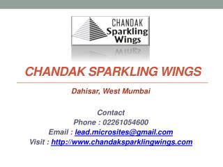 Chandak Sparkling Wings - Call @ 02261054600  Sparkling Wings - Dahisar East Mumbai - Price, Review, Location, Floor Pla