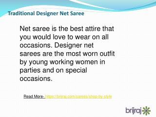 Traditional Designer Net Saree