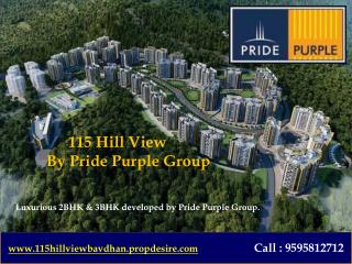 2 BHK Flats in Bavdhan Pune, 115 Hill View
