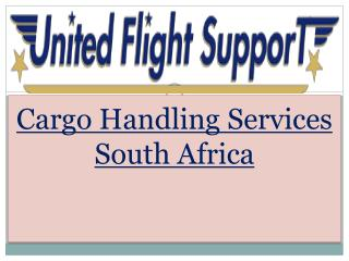Cargo Handling Services South Africa