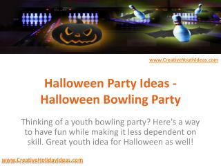 Halloween Party Ideas - Halloween Bowling Party