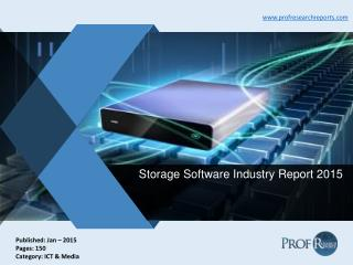 Storage Software Industry Report 2015