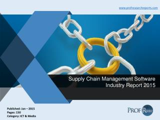 Supply Chain Management Software Industry Report 2015
