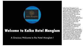 Kalka Hotel Manglam | Hotel in Kalka