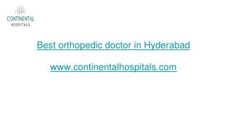 Hip replacement surgery in Hyderabad | continentalhospital