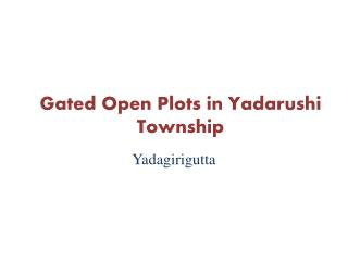 Gated community open plots in Yadarushi