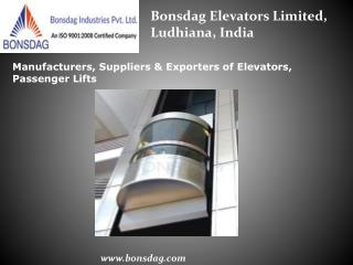 Capsule Elevators Manufacturers, Exporters in india