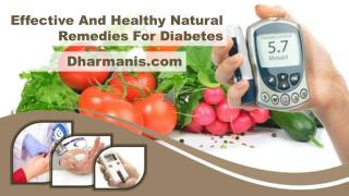Effective And Healthy Natural Remedies For Diabetes