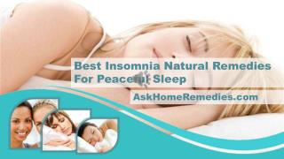 Best Insomnia Natural Remedies For Peaceful Sleep