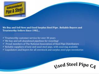 Used Steel Pipe CA