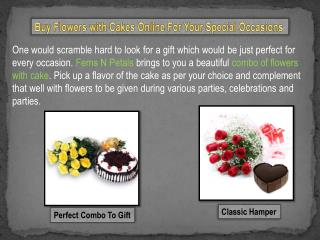 Combos of Flowers With Cakes Online at Ferns N Petals