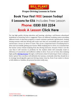 Proper Driving Lessons in Yarm