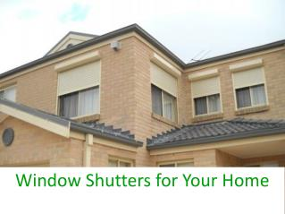 Window Shutters for Your Home - Maverick Roller Products