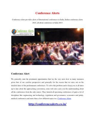 Conference Alerts