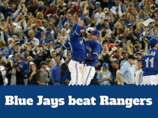 Blue Jays beat Rangers
