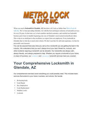 Locksmith Glendale