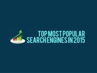 2015's Most Popular Search Engines [Infographic]