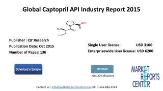 Global Captopril API Industry Report 2015