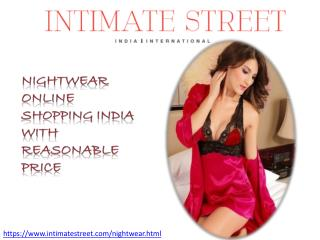 Nightwear Online Shopping In India | Intimatestreet