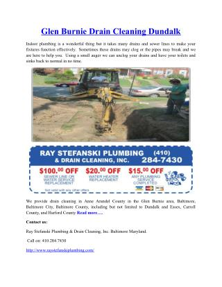 Glen Burnie Drain Cleaning Dundalk
