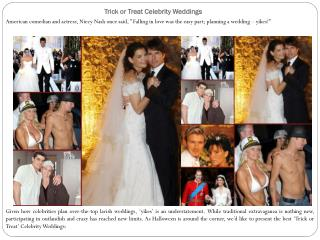 Trick or Treat Celebrity Weddings