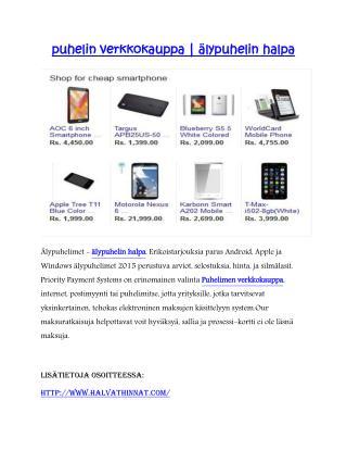 älypuhelin halpa | puhelin verkkokauppa