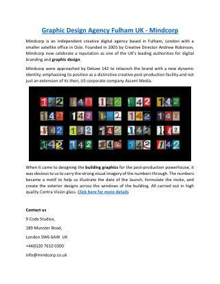Graphic Design Agency Fulham UK - Mindcorp