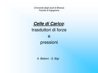 Universit  degli studi di Brescia Facolt  di Ingegneria