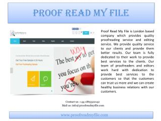 Introduction of Proof Read My File