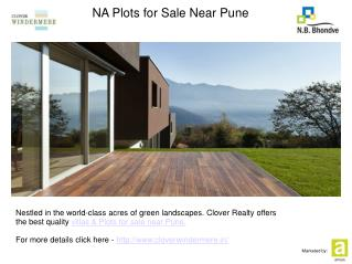 NA Plots for Sale Near Pune