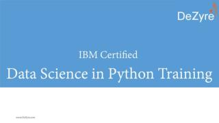 IBM certified Data Science in Python training