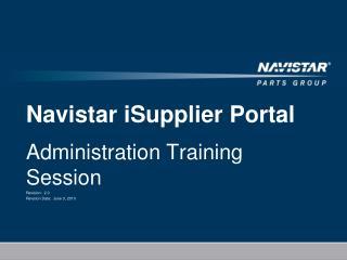 Navistar iSupplier Portal