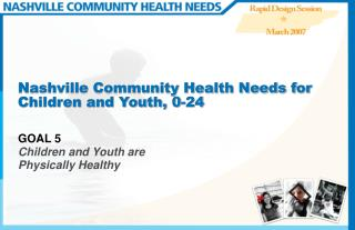 Nashville Community Health Needs for Children and Youth, 0-24