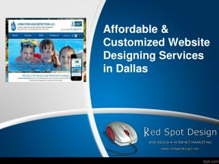 Affordable & Customized Website Designing Services in Dallas