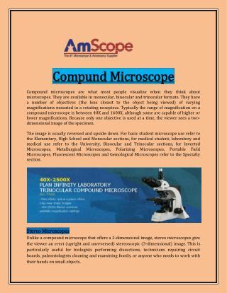 Compund Microscope