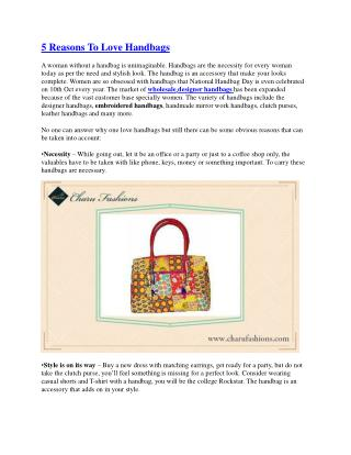 5 reasons to love handbags
